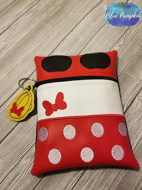Girl Mouse 7x5 ITH Zipper Bag Design