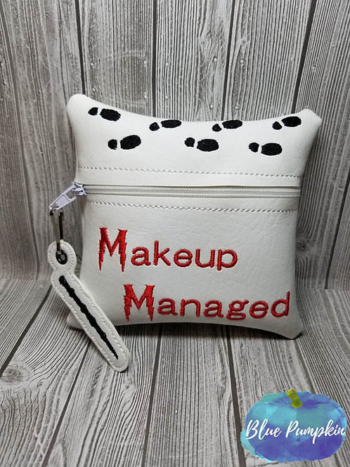 Makeup Managed 5x5 ITH Zipper Bag Design