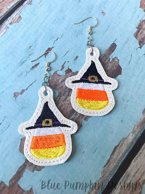 Witch Candy Corn Earrings