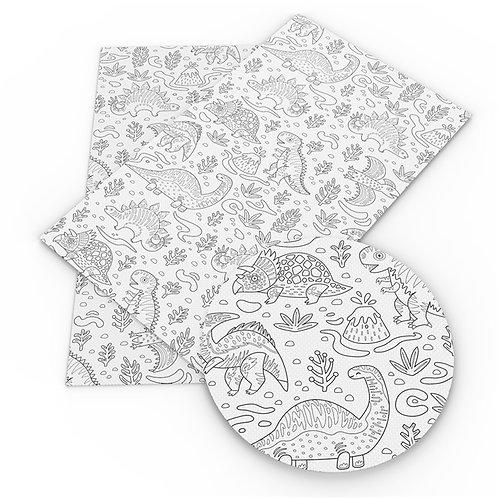 Dino Outline Embroidery Vinyl
