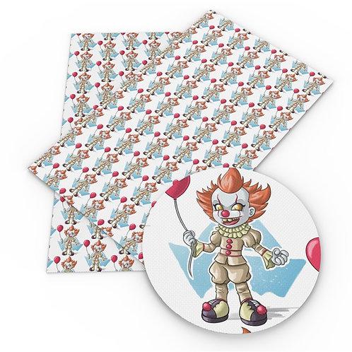 Kid Clown Printed Embroidery Vinyl