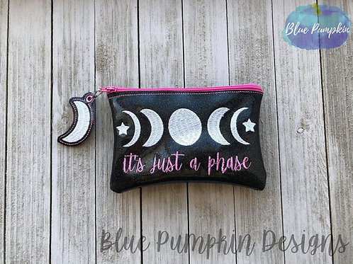 Moon Phases ITH Zipper Bag Design