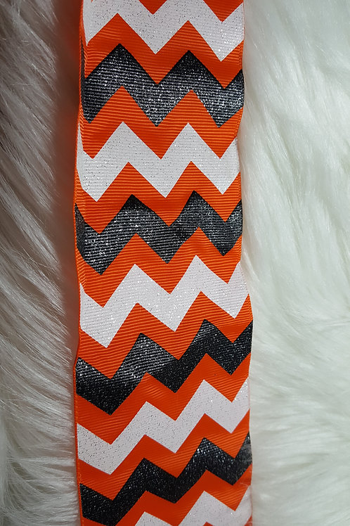 Orange Chevron Ribbon