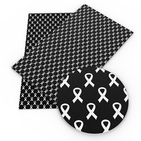 Black Awareness Ribbon Embroidery Vinyl