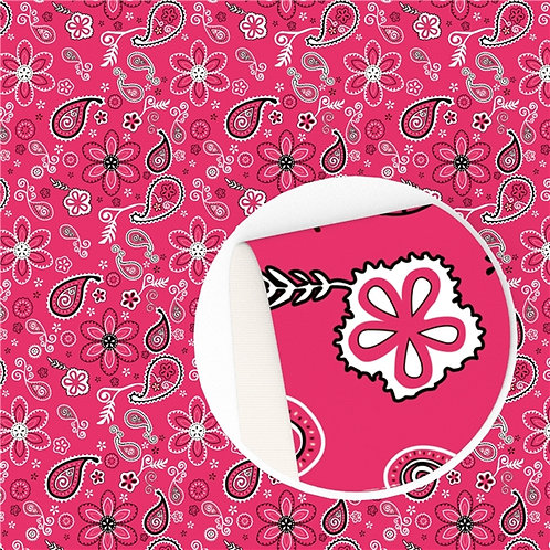 Pinky Red Paisley Embroidery Vinyl