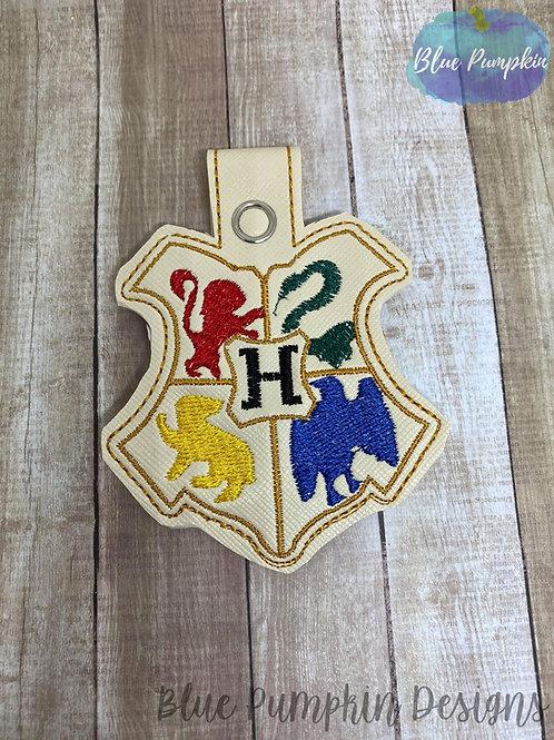 Wizard Crest Key Fob