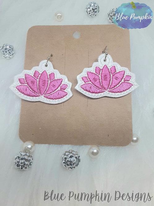 Lotus Flower Filled Earrings