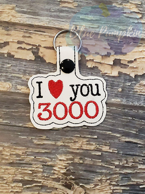 I love you 3000 Key Fob