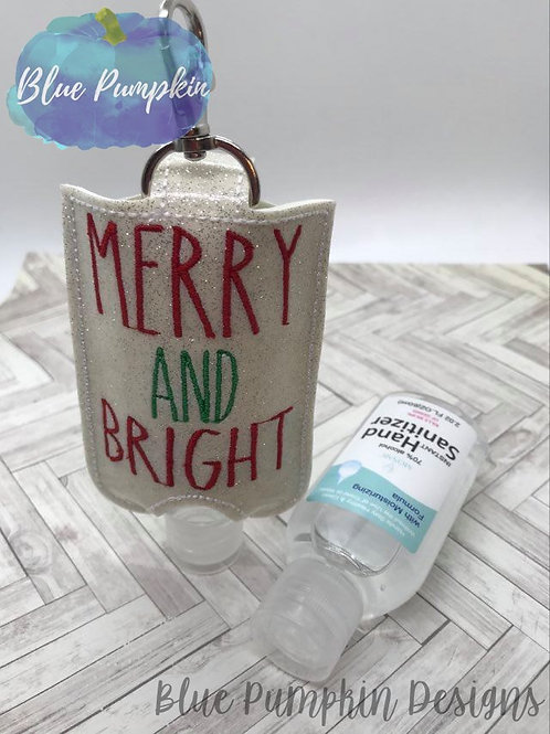 2oz Merry and Bright Sani Bottle Holder