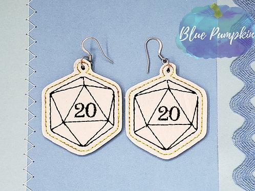 20 sided Dice Earrings