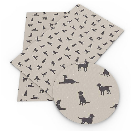 Dog Silhouette Printed Embroidery Vinyl