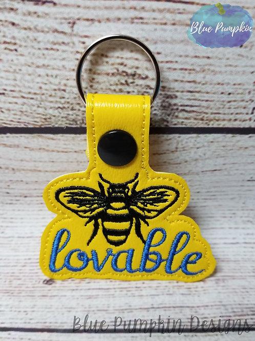 Bee Lovable Key Fob