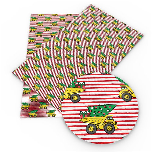 Dump Truck with Tree Embroidery Vinyl