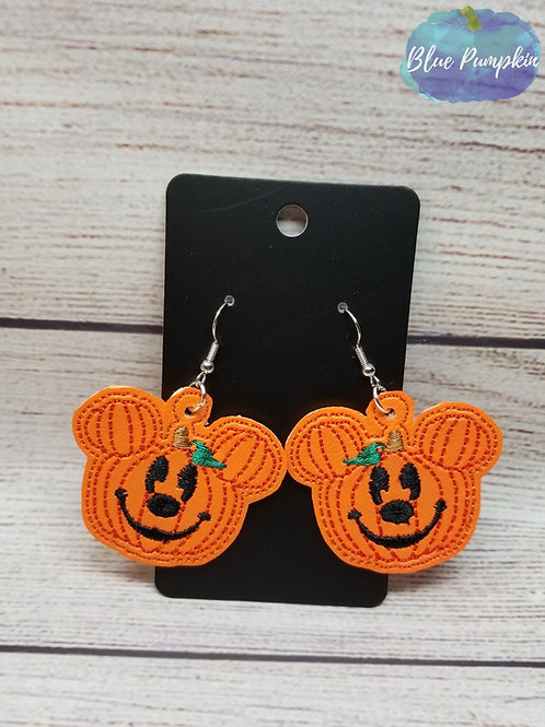 Pumpkin Mouse Earrings