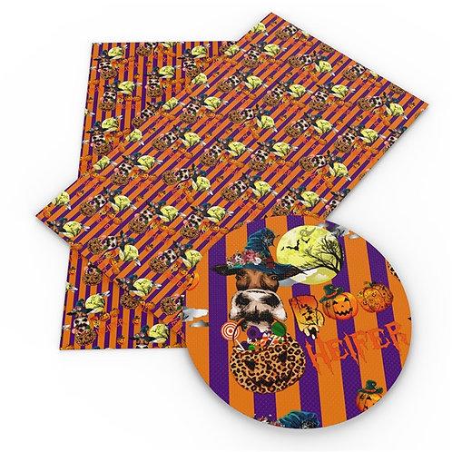 Halloween Heifer Printed Embroidery Vinyl