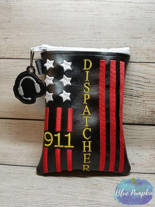 911 Flag ITH Zipper Bag Design