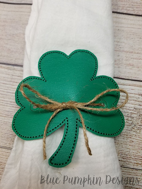 Shamrock Napkin Ring Holder