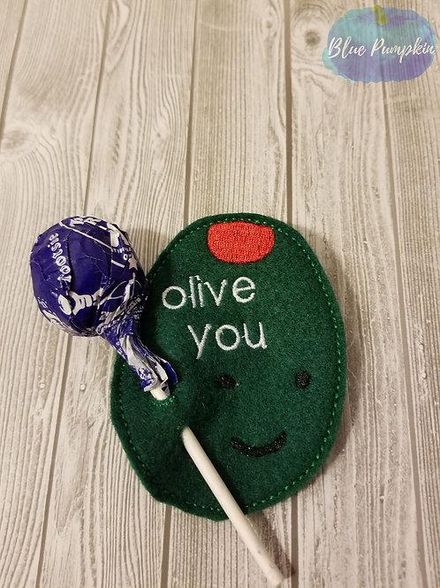 Olive You Lollipop  Holder