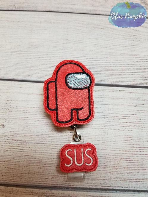 Among SUS Badge Reel Feltie Design