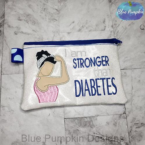 5x7 Stronger Than Diabetes  Zipper Bag Design