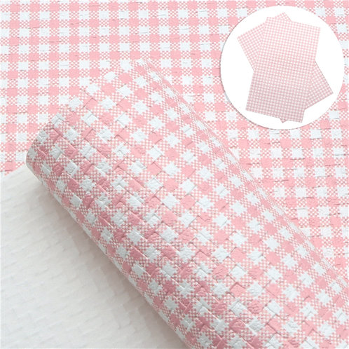 Weave of Pink Picnic Embroidery Vinyl