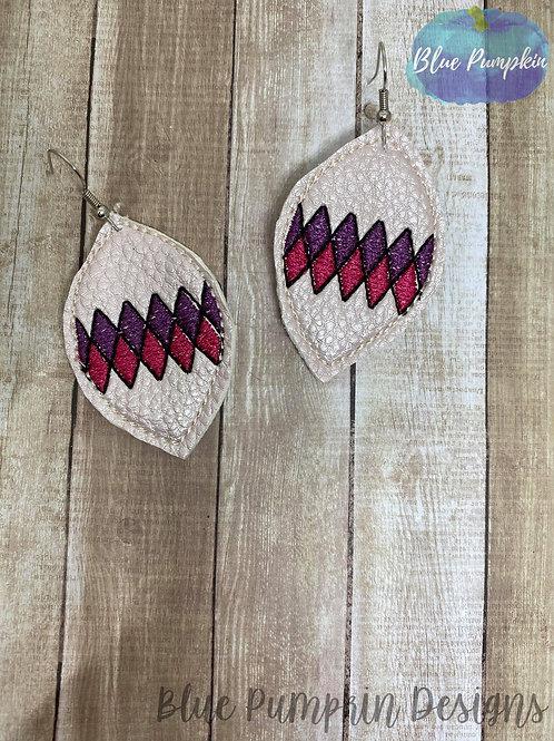 Argyle Pinch Oval  Earrings