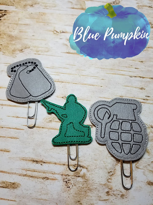 Military Paper Clip Toppers