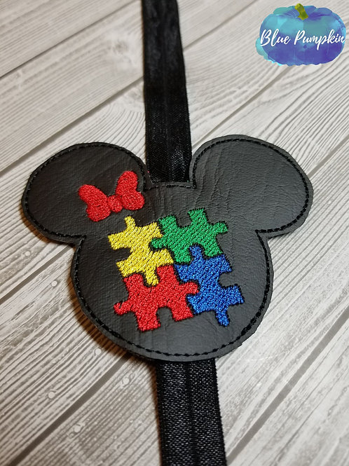 Girl Mouse Autism Planner Band
