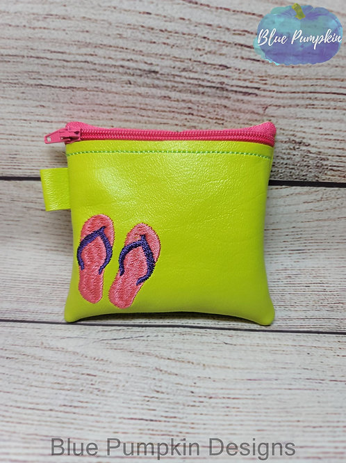 3 sizes Flip Flops Zipper Bag Design