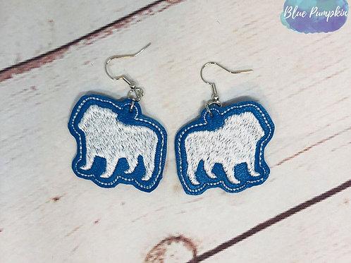 Filled Bulldog Earrings