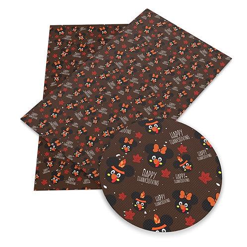 Mouse Turkey Embroidery Vinyl