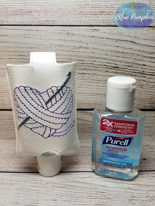 Crochet Heart Yarn 2oz Sanitizer Holder