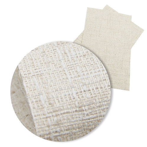 Cream Fabric WEAVE Embroidery Vinyl