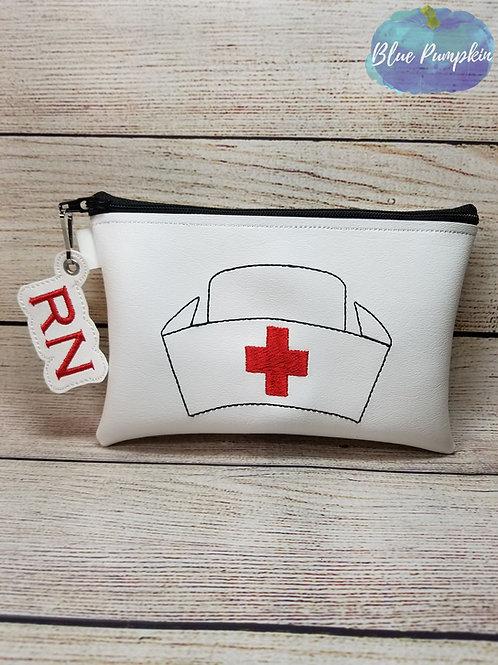 Traditional Nurse ITH Zipper Bag Design