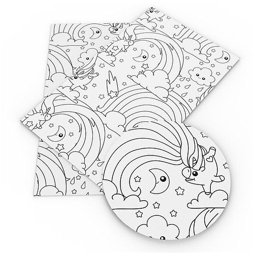 Color Me Unicorn Printed Embroidery Vinyl