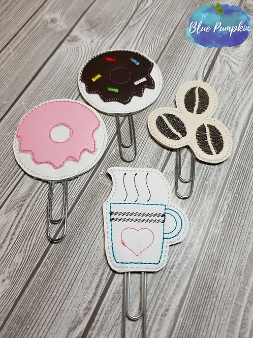 Coffee Paper Clip Toppers