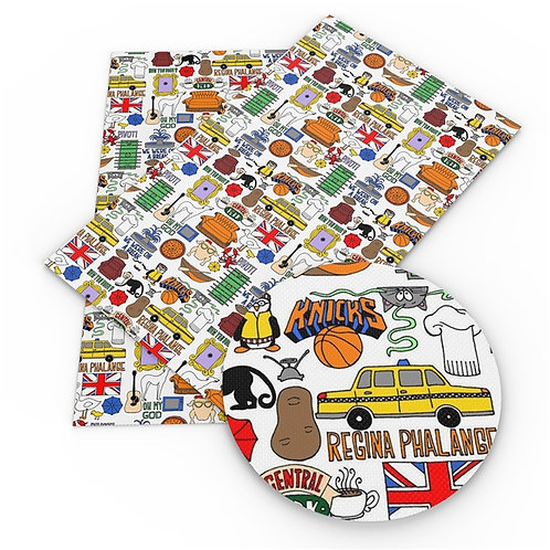 Colorful Friends Collage Embroidery Vinyl