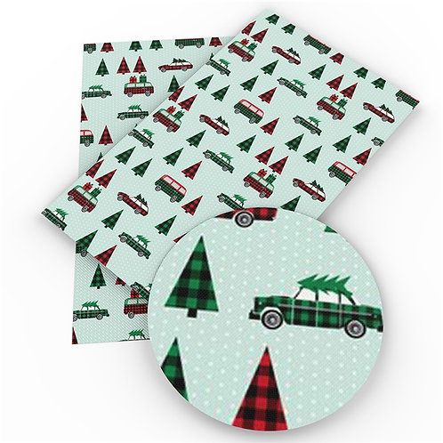 Cars and Christmas Trees Embroidery Vinyl