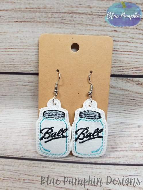 Ball Mason Jar Earrings