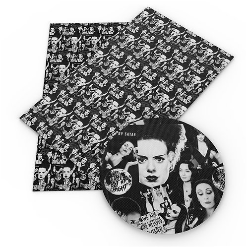 SECONDS Hotter Than Hell Horror Women Collage Embroidery Vinyl