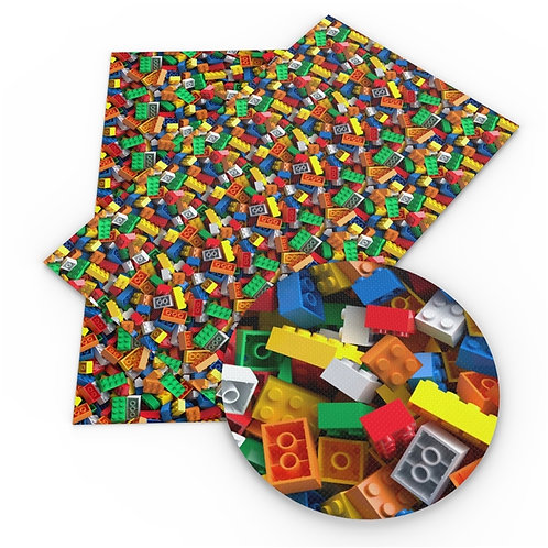 Messy Colorful Blocks Embroidery Vinyl
