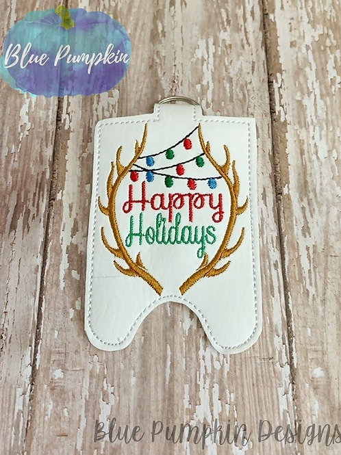 2ozHappy Holidays Sani Bottle Holder