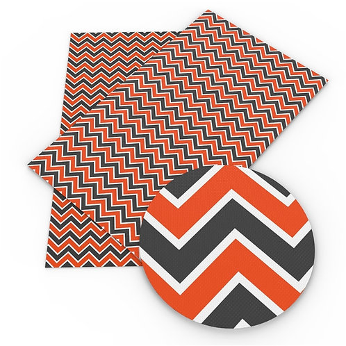 Orange and grey Chevrons Printed Embroidery Vinyl