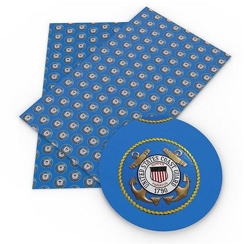 Coast Guard Printed Embroidery Vinyl