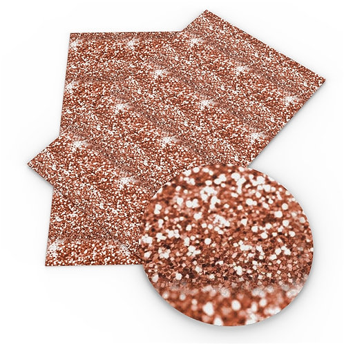Rose Gold Large Chunk FAUX Glitter Embroidery Vinyl