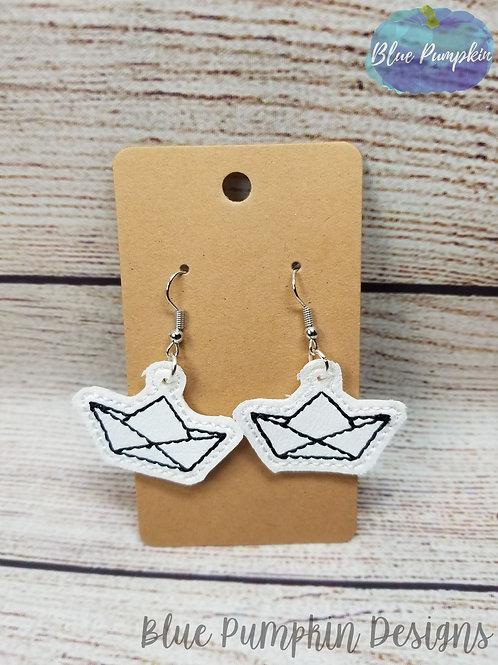 Paper Boat Earrings