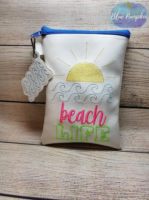 Beach Life ITH Zipper Bag Design