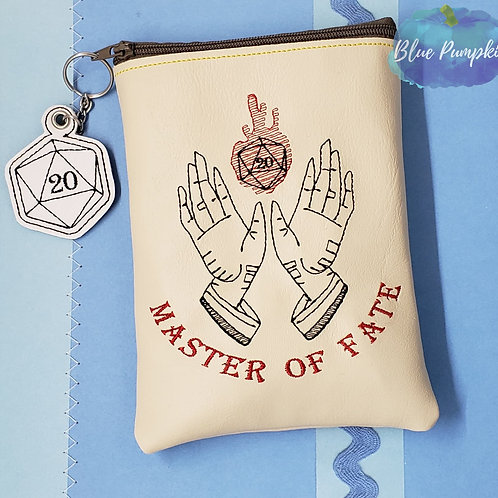 Master of Fate Bag ITH Zipper Bag Design