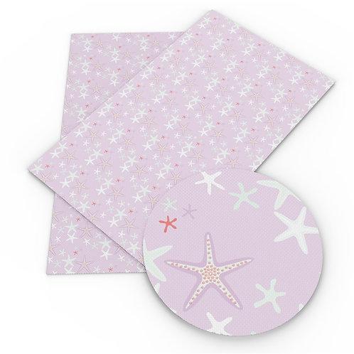 Pink Sea Stars Embroidery  Vinyl
