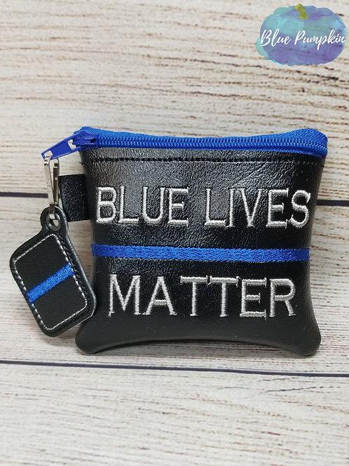 4x4 Blue Lives Matter ITH Zipper Bag Design
